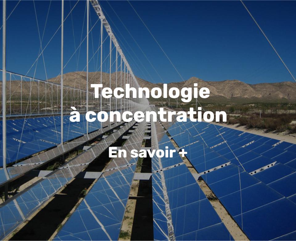 chaleur solaire technologie à concentration