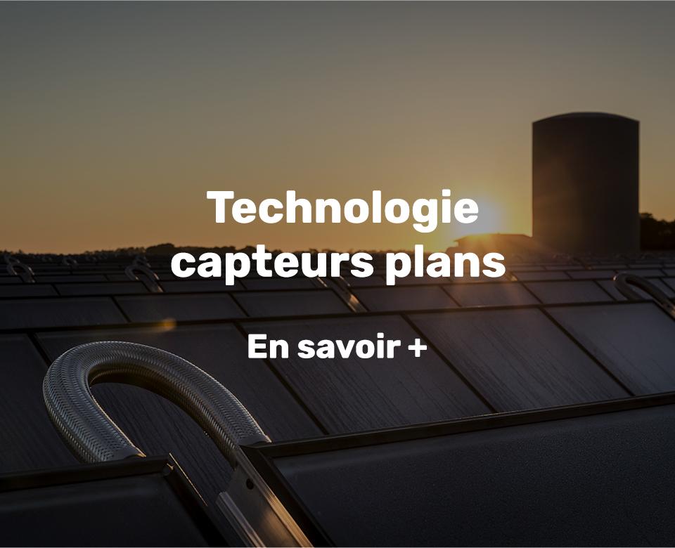 chaleur solaire technologie capteurs plans